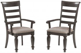 Garrison Burnished Grey Arm Chair Set of 2