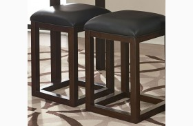 Porter Rich Dark Brown Counter Height Barstool Set of 2