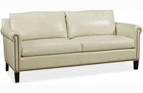 Belle Fairview Stone Leather Sofa
