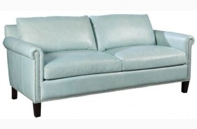 Belle Weston Blue Ice Leather Sofa