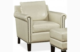 Belle Fairview Stone Leather Chair
