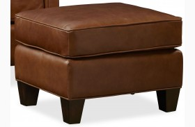 Alexander Berkshire Maple Leather Ottoman