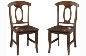 Larkin Antique Cherry Side Chair Set of 2