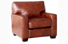 Aberdeen Auburn Top Grain Leather Chair