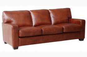 Aberdeen Auburn Top Grain Leather Sofa