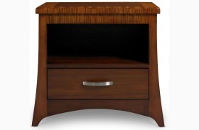 Milan Medium Brown Nightstand