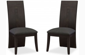 Novara Charcoal Edna Side Chair Set of 2