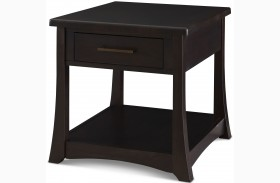 Novara Charcoal Momo End Table