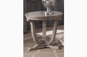 Greystone Mill Stone White Wash End Table