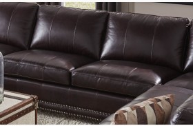 Bozeman Dark Chocolate Vintage Leather Armless Loveseat