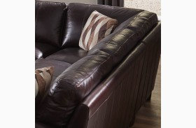 Bozeman Dark Chocolate Vintage Leather Corner
