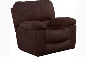 Terrance Chocolate Rocker Recliner