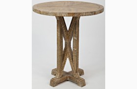 Pacific Heights Bisque Round End Table