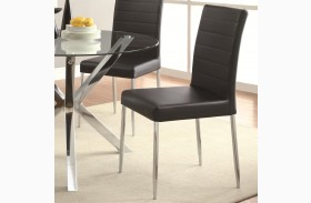 Vance Black Upholstered Side Chair Set of 4