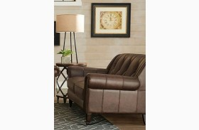 Lucia French Beige Leather Loveseat