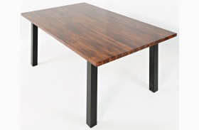 Urban Dweller Wood and Metal Dining Table