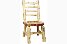 Cedar Ladder Back Log Side Chair