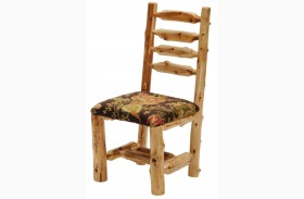 Cedar Upholstered Log Side Chair