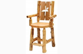 Cedar Cut-Out Loon Log Side Chair