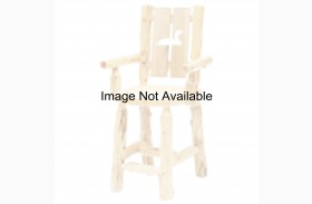 Cedar Cut-Out Bear Counter Height Log Side Chair
