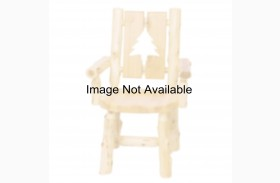 Cedar Cut-Out Bear Log Arm Chair