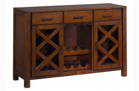 Omaha Burnished Saddle Brown Sideboard