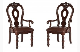 Westchester Rich Cherry Arm Chair Set of 2
