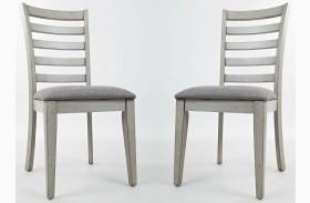 Sarasota Springs Upholstered Ladder Back Dining Chair Set of 2