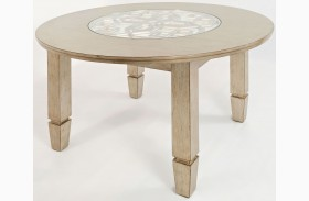 Casa Bella Vintage Silver Round Dining Table