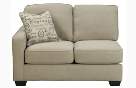 Alenya Quartz Fabric LAF Loveseat