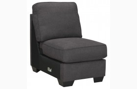 Alenya Charcoal Armless Chair