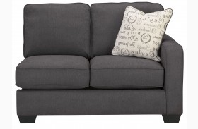 Alenya Charcoal Fabric RAF Loveseat