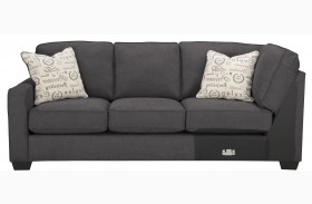 Alenya Charcoal Fabric LAF Sofa