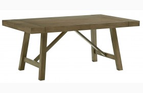 Omaha Weathered Burnished Grey Extendable Trestle Dining Table