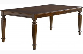 Charleston Tobacco Brown Extendable Rectangular Leg Dining Table