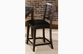 Bella Warm Chocolate Cherry Seat Height Barstool Set of 2