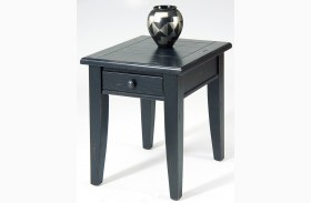 Treasures Black End Table