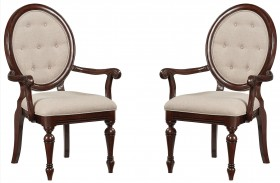 Carrington Chestnut Brown Arm Chair Set of 2