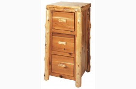 Cedar 3 Drawer File Cabinet