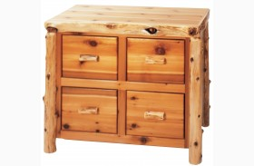 Cedar 4 Drawer File Cabinet