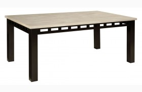 Gateway Brown and White Rectanular Dining Table