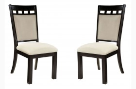 Gateway Brown and White Upholstered Side Chair Set of 2