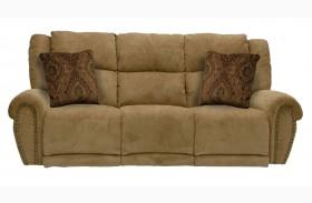 Stafford Caramel Power Reclining Sofa