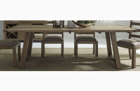 Prescott Antique Honey Trestle Dining Table
