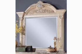 Russian Hill Antique White Mirror
