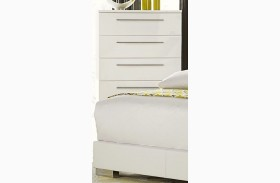 Linnea White High Gloss Chest
