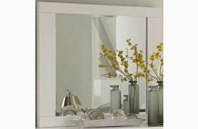 Linnea White High Gloss Mirror