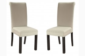 Gateway Brown and Grey Parsons Upholstered Chair Set of 2