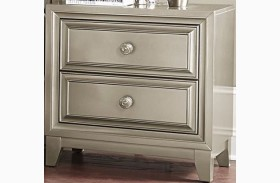 Hedy Silver Nightstand