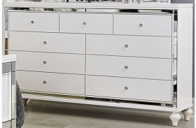 Alonza Bright White Dresser